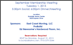 September 1st meeting BCHBA